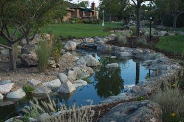 Rebuilding a 1 2 mile stream for Koi pool water gardens thornton